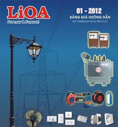 Tải catalog thiết bị điện LIOA - áp dụng từ tháng 1/2012